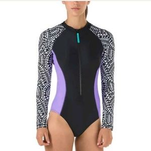 Speedo S Ladies Long Sleeve One-Piece Surf Swim